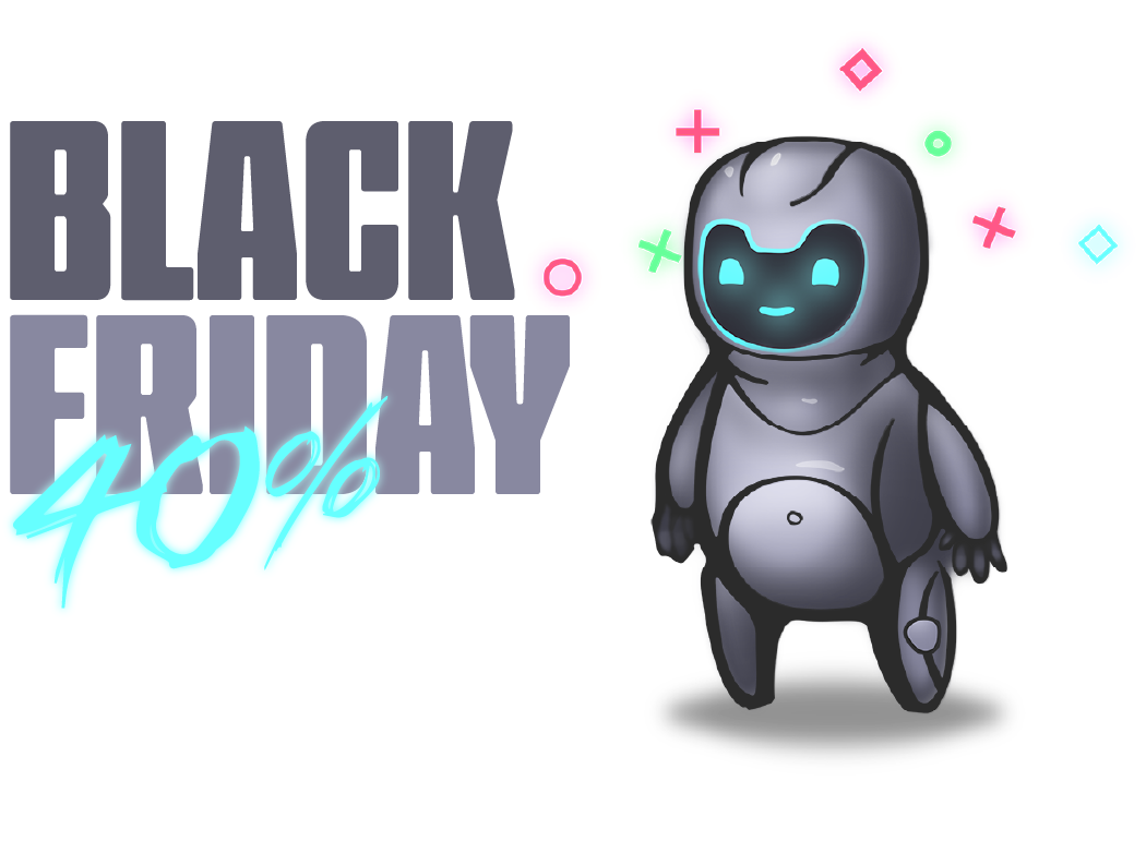 Black Friday Sale - 40$ off 1 year subscriptions